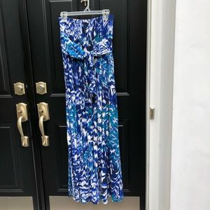 Donna Morgan long strapless casual dress